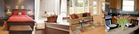 Collage of Furniture that Housing Options can provide.